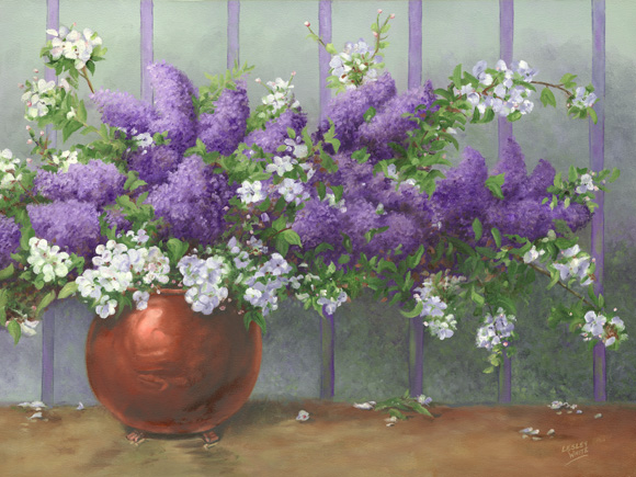 Lilacs & Mayflowers -  18 x 24 $1,265.00 (framed)